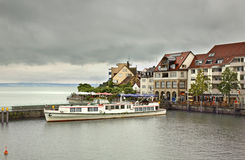 Embankment in Friedrichshafen town. Germany Royalty Free Stock Images