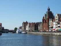 Embankment in Gdansk Stock Photo
