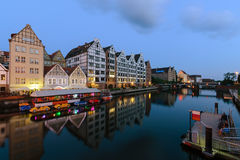 Embankment of Gdansk in the evening, Poland Royalty Free Stock Image