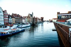 Embankment of Gdansk Stock Images