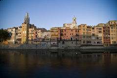 Embankment in Gerona Stock Photo