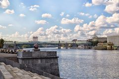 Embankment in Gorky Park in Moscow Stock Image
