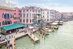 Embankment of Grand Canal. Venice. HDR Stock Photo