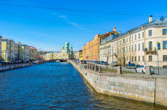 The embankment of Griboedov Canal in St Petersburg Royalty Free Stock Images