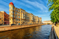The embankment of Griboyedov Canal Stock Image