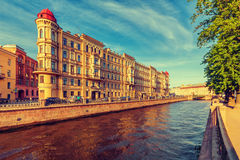 The embankment of Griboyedov Canal Stock Images