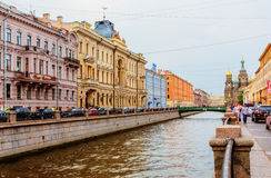 The embankment of Griboyedov Canal Royalty Free Stock Photography
