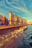 The embankment of Griboyedov Canal Stock Photography