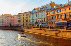 The embankment of Griboyedov Canal Royalty Free Stock Images