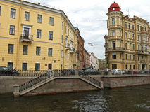 Embankment of Griboyedov canal in Saint Petersburg. Russia. Stock Images