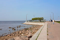 Embankment Gulf of Finland Royalty Free Stock Photo