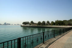 Embankment of the Gulf of Oman. Al Mamzar Beach and Park. Dubai Royalty Free Stock Photos