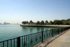 Embankment of the Gulf of Oman. Al Mamzar Beach and Park. Dubai, Stock Photos