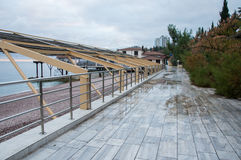 Embankment in Gurzuf on a cloudy day. High quality Stock Image
