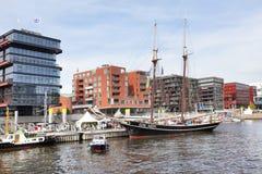 Embankment in Hamburg Royalty Free Stock Images