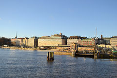 Embankment in Helsinki, Finland Stock Photography