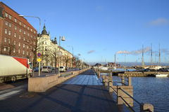 Embankment in Helsinki, Finland Royalty Free Stock Images