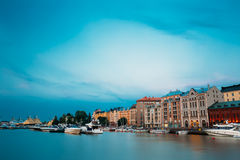 Embankment In Helsinki At Summer Evening, Finland Stock Images