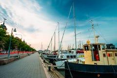 Embankment In Helsinki At Summer Evening, Finland Stock Photos