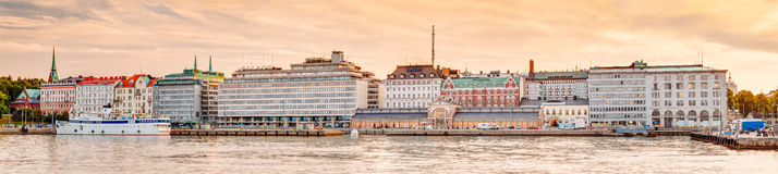 Embankment In Helsinki At Summer Sunset Evening Royalty Free Stock Photos