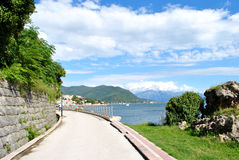 Embankment of Herceg Novi Stock Images