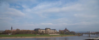 Embankment in the historic center of Dresden, Germany Stock Photo