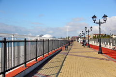 Embankment in the Imeretiskiy kurort in the Sochi Stock Photo