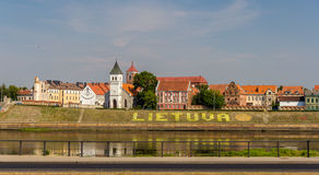 Embankment in Kaunas - Lithuania Royalty Free Stock Photography