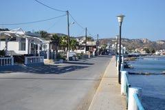 Embankment in Kefalos Stock Photography