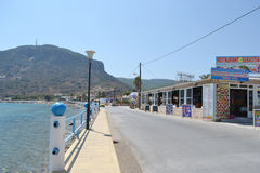Embankment in Kefalos Stock Photo