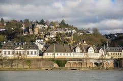 Embankment in Koblenz Royalty Free Stock Image