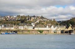 Embankment in Koblenz Stock Images