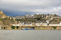 Embankment in Koblenz Royalty Free Stock Photography