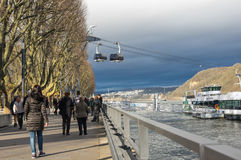 Embankment in Koblenz Royalty Free Stock Images
