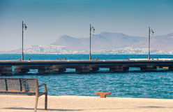 Embankment in Kos town Royalty Free Stock Photography