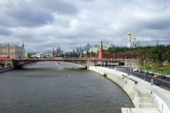 Embankment and Kremlin Stock Photo