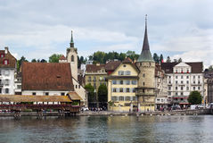 Embankment of lake, Lucerne Stock Photography