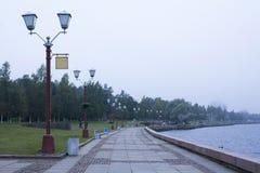 Embankment of lake Onega Royalty Free Stock Photo