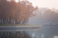 Embankment of Lake Superior. Kaliningrad Royalty Free Stock Photo