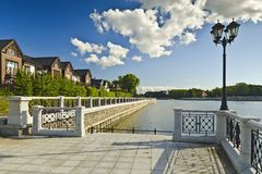 Embankment of lake Verhnee (until 1949 Oberteich). Kaliningrad, Russia Stock Image