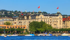 Embankment of Lake Zurich in the city of Zurich Royalty Free Stock Images