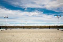 Embankment with lanterns . Royalty Free Stock Photo