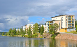 Embankment in Lappeenranta at ssummer. Stock Photography