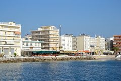 Embankment in Loutraki. Royalty Free Stock Images