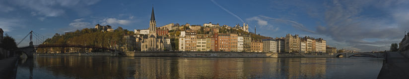 Embankment.   Lyon. Stock Photo