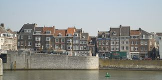 Embankment of the Maas river in Maastricht Royalty Free Stock Photos