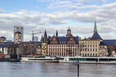 Embankment of Main, Frankfurt, Germany Stock Images
