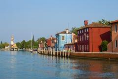 Embankment on the Mazzorbo island in Sunny day. Venice, Italy Stock Photography