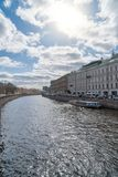 Embankment of the Moika River. Embankment of the Moika River in St. Petersburg, Russia Royalty Free Stock Images
