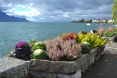 Embankment in Montreux Royalty Free Stock Photo